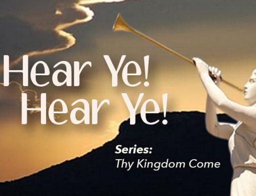 Hear Ye! Hear Ye!